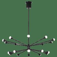 Lody 20-Light Chandelier 20-Light Matte Black 3000K 90 CRI Integrated LED 90 CRI 3000k 120v-277v unv (t20/t24)