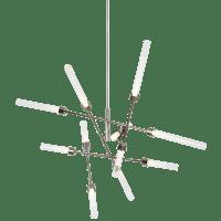 Linger 12-Light Abstract Chandelier 12-Light Abstract Chandelier Polished Nickel 3000K 90 CRI Integrated LED 90 CRI 3000k 120v (t20/t24)