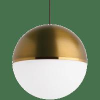 Akova Pendant MonoPoint Aged Brass/Bright Brass Aged Brass 2700K 90 CRI  12 volt LED 90 CRI 2700k