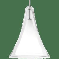 Melrose II Pendant MonoPoint Clear Satin Nickel 3000K 90 CRI 12 volt LED 90 CRI 3000k (T20/T24)