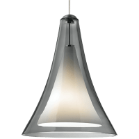 Melrose II Pendant MonoPoint Smoke Satin Nickel 3000K 90 CRI 12 volt LED 90 CRI 3000k (T20/T24)
