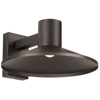 Ash 16 Outdoor Wall Bronze Dome 3000K 90 CRI Low Output, Button Photocontrol