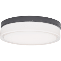 Cirque Large Outdoor Wall/Flush Mount Large Charcoal 3000K 90 CRI