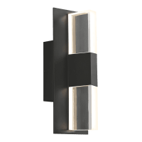 Lyft 12 Outdoor Wall Black Clear 2700K 80 CRI Surge Protection