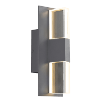 Lyft 12 Outdoor Wall Charcoal Clear 3000K 80 CRI In-Line Fuse