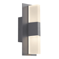 Lyft 12 Outdoor Wall Charcoal 3000K Diffuser 80 CRI In-Line Fuse
