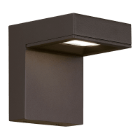 Taag 6 Outdoor Wall Bronze 4000K 80 CRI, In-Line Fuse