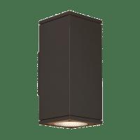 Tegel 12 Outdoor Wall Black 2700K 80 CRI, Button Photocontrol, Uplight & Downlight NWC