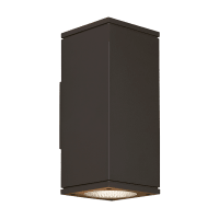 Tegel 12 Outdoor Wall Black 2700K 80 CRI, Button Photocontrol, Downlight Only WC
