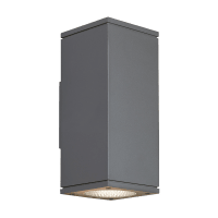 Tegel 12 Outdoor Wall Charcoal 4000K 80 CRI, Button Photocontrol, Uplight & Downlight WWC