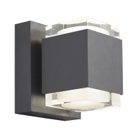 Voto 6 Outdoor Wall Charcoal 2700K 80 CRI Uplight & Downlight Surge Protection