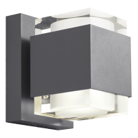 Voto 8 Outdoor Wall Charcoal 2700K 80 CRI Downlight Only
