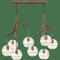 Sedona Double Chandelier Double Clear Aged Brass 2700K 90 CRI t14 LED 90 CRI 2700k 120v (T20/T24)