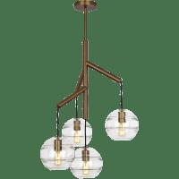 Sedona Single Chandelier Single Clear Aged Brass no lamp