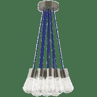 Alva Pendant 11-LITE Chandelier Blue satin nickel 3000K-2200K 90 CRI led 90 cri warm color dimming 3000-2200k 120v (t24)