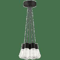 Alva Pendant 7-LITE Chandelier Gray Black 3000K 90 CRI led 90 cri 3000k 120v (t24)