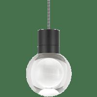 Mina Pendant 1-LITE Clear Black Black/White 3000K 90 CRI LED 120v (t24)