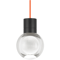 Mina Pendant 1-LITE Clear Black Orange 2200K 90 CRI LED 90 CRI 2200k 120v (t24)