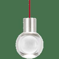 Mina Pendant 1-LITE Clear Satin Nickel Red 3000K-2200K 90 CRI LED 120v (t24)