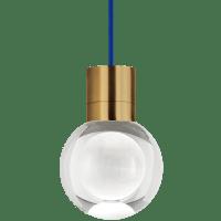 Mina Pendant 1-LITE Clear Aged Brass 3000K 90 CRI LED 120v (t24)