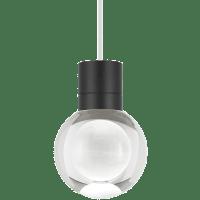 Mina Pendant 1-LITE Clear Black White 3000K-2200K 90 CRI LED 120v (t24)