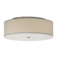 Mulberry Small Flush Mount Small White satin nickel no lamp