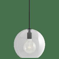 Palestra Medium Pendant Medium Opal/Clear Nightshade Black no lamp