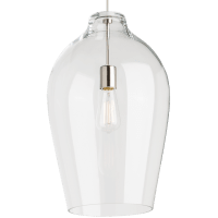 Prescott Pendant Clear Satin Nickel No Lamp