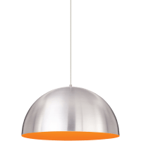 Powell Street Pendant Satin Nickel/Sunrise Orange Satin Nickel 3000K 80 CRI g40 led 80 cri 3000k 120v
