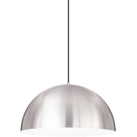 Powell Street Pendant Satin Nickel/White Black No Lamp