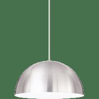 Powell Street Pendant Satin Nickel/White Satin Nickel No Lamp