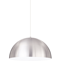 Powell Street Pendant Satin Nickel/White White No Lamp