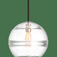 Sedona Large Pendant Clear Satin Nickel 2700K 90 CRI LED med base t14 90 CRI 2700k 120v