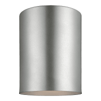 Outdoor Cylinders One Light Outdoor Flush Mount Painted Brushed Nickel