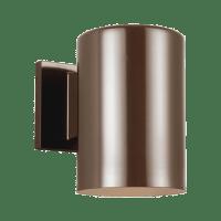 Outdoor Cylinders Small One Light Outdoor Wall Lantern Bronze Bulbs Inc