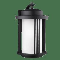 Crowell Large One Light Outdoor Wall Lantern Black Bulbs Inc Dark Sky