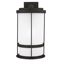 Wilburn Extra Large One Light Outdoor Wall Lantern Antique Bronze Dark Sky