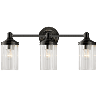 Ava Triple Sconce in Bronze with Crystal