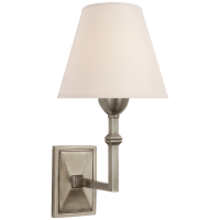 Jane Wall Sconce in Antique Nickel with Natural Paper Shade