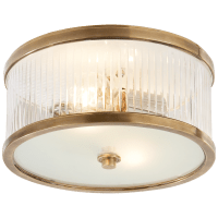 Randolph Small Flush Mount in Hand-Rubbed Antique Brass