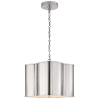Basil Small Hanging Shade in Polished Nickel with Acrylic Diffuser