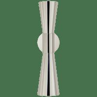 Clarkson Medium Narrow Sconce in Polished Nickel