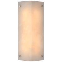 Clayton Wall Sconce in Alabaster and Polished Nickel