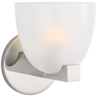 Carola Single Sconce in Polished Nickel with Frosted Glass