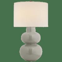 Merlat Table Lamp in Shellish Gray with Linen Shade