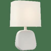 Almette Medium Table Lamp in Plaster White with Linen Shade