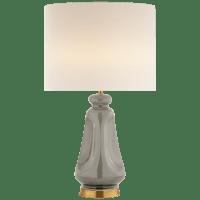 Kapila Table Lamp in Shellish Gray with Linen Shade