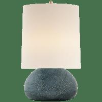 Sumava Medium Table Lamp in Blue Lagoon with Linen Shade