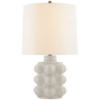 Vedra Medium Table Lamp in Bone Craquelure with Linen Shade