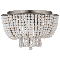 Jacqueline Flush Mount in Burnished Silver Leaf with White Acrylic
